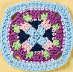 Checkerboard granny square