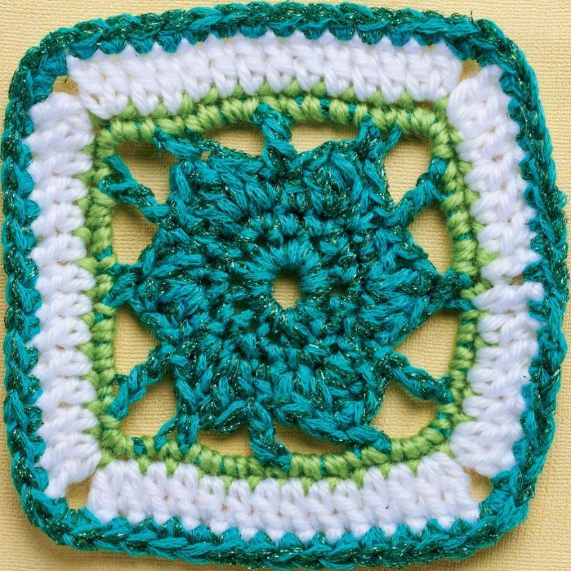 Top Crochet Patterns Sparkle Flower Granny Square