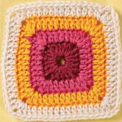 Four stripes granny square