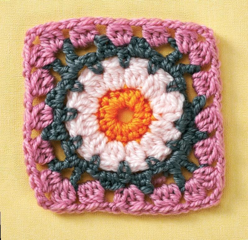 Top Crochet Patterns Basic Flower Granny Square