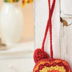 Crochet heart decoration