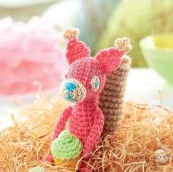 Crochet squirrel toy