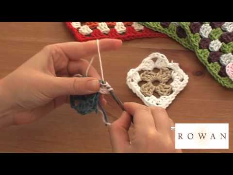 How to Crochet: granny squares, with Rowan Yarns and Purplelinda Crafts