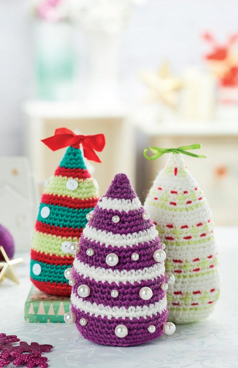 http://www.topcrochetpatterns.com/free-crochet-patterns/crochet-christmas-trees