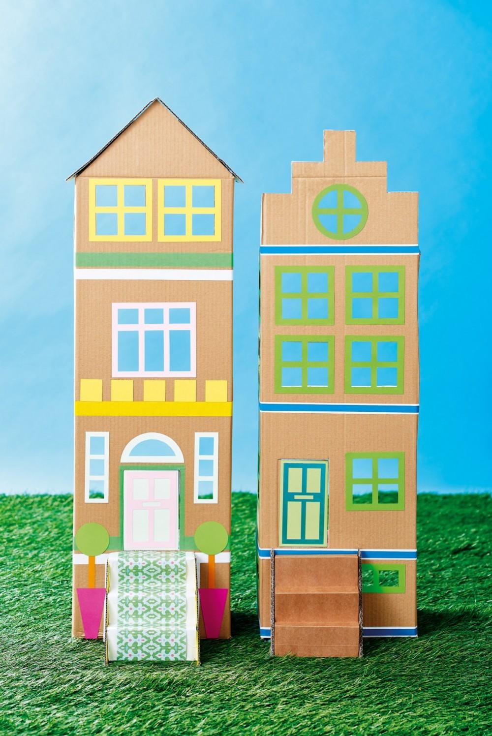 Cardboard Doll's Houses