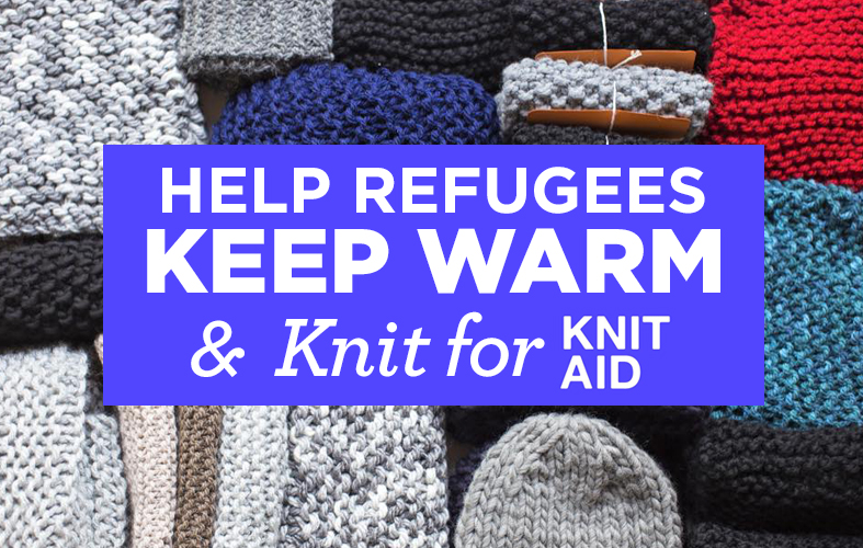 Help Refugees Keep Warm And Make For Knit Aid