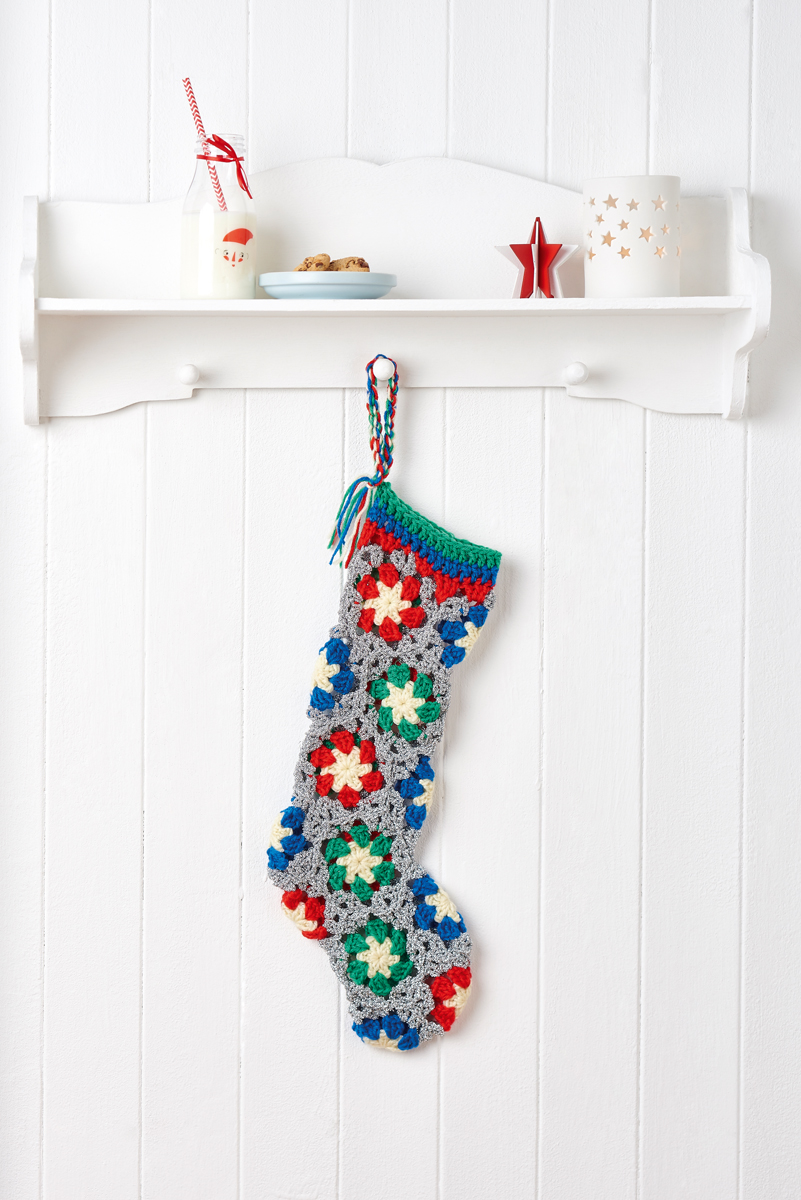 SPARKLY STOCKING TEMPLATE