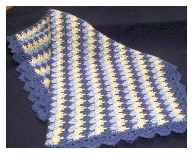 Crochet Stitches Larksfoot : Most crochet stitches work as well for blankets as stripes, ripples or ...