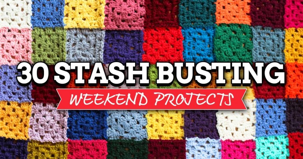 30 Stash Busting Weekend Projects Top Crochet Pattern Blog