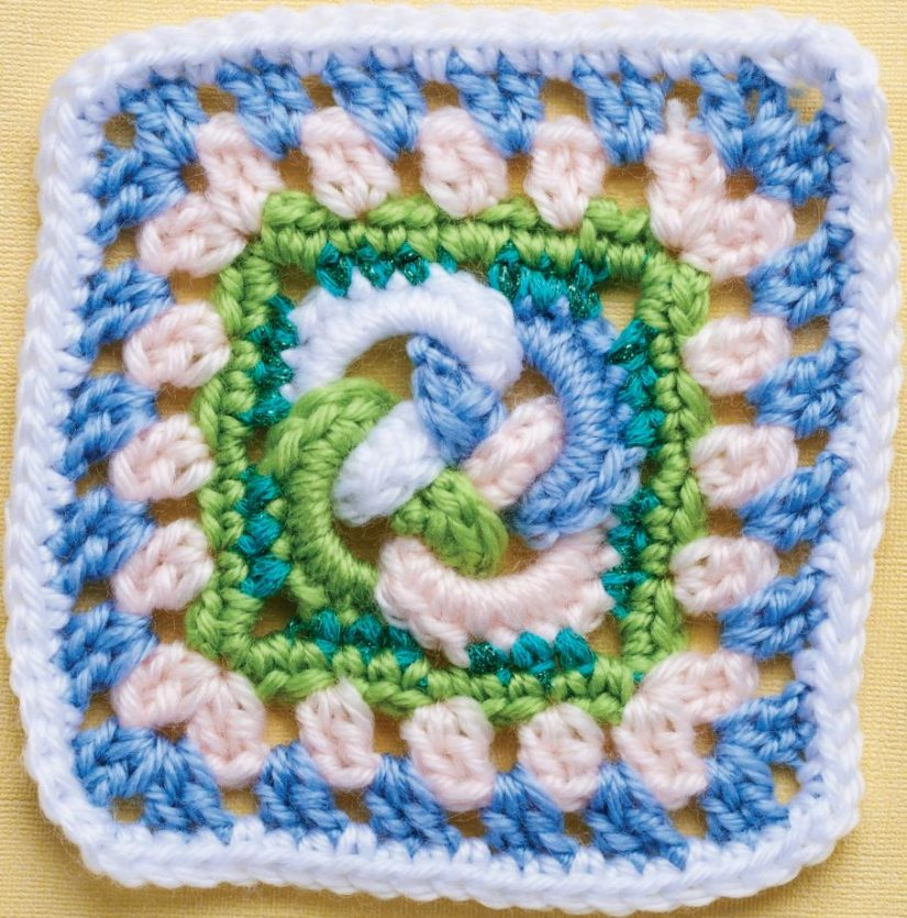 Top Crochet Patterns Celtic Knot Granny Square
