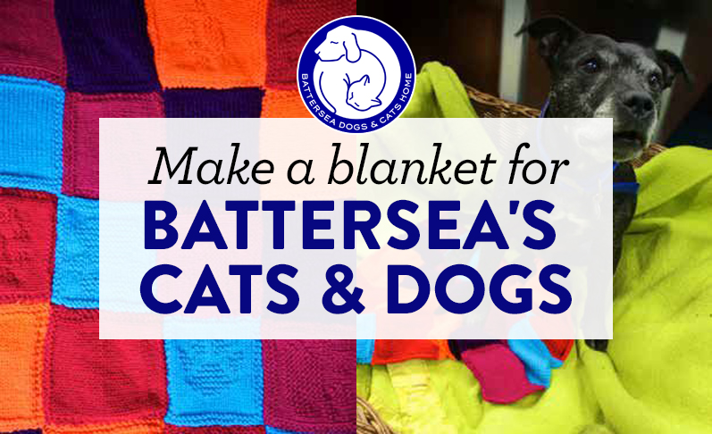 Battersea Dog Blanket Knitting Pattern : Make a blanket for Battersea s cats and dogs Top Crochet Pattern Blog