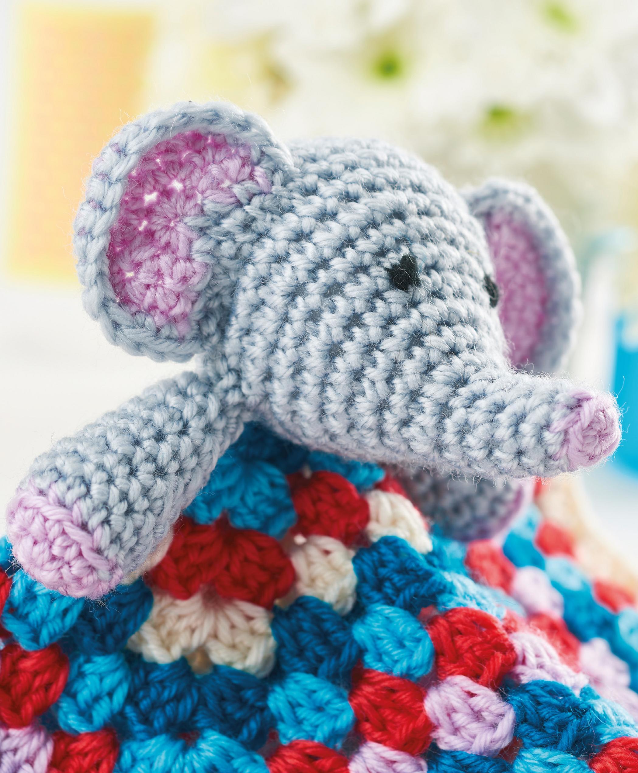 Baby Elephant Blanket Top Crochet Patterns