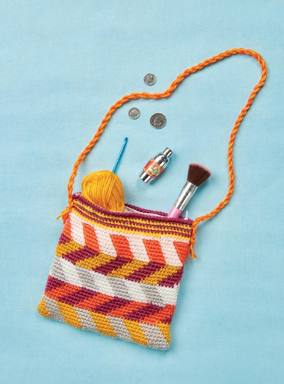 Free Crochet Chevron Purse Pattern : Chevron tote Crochet Pattern