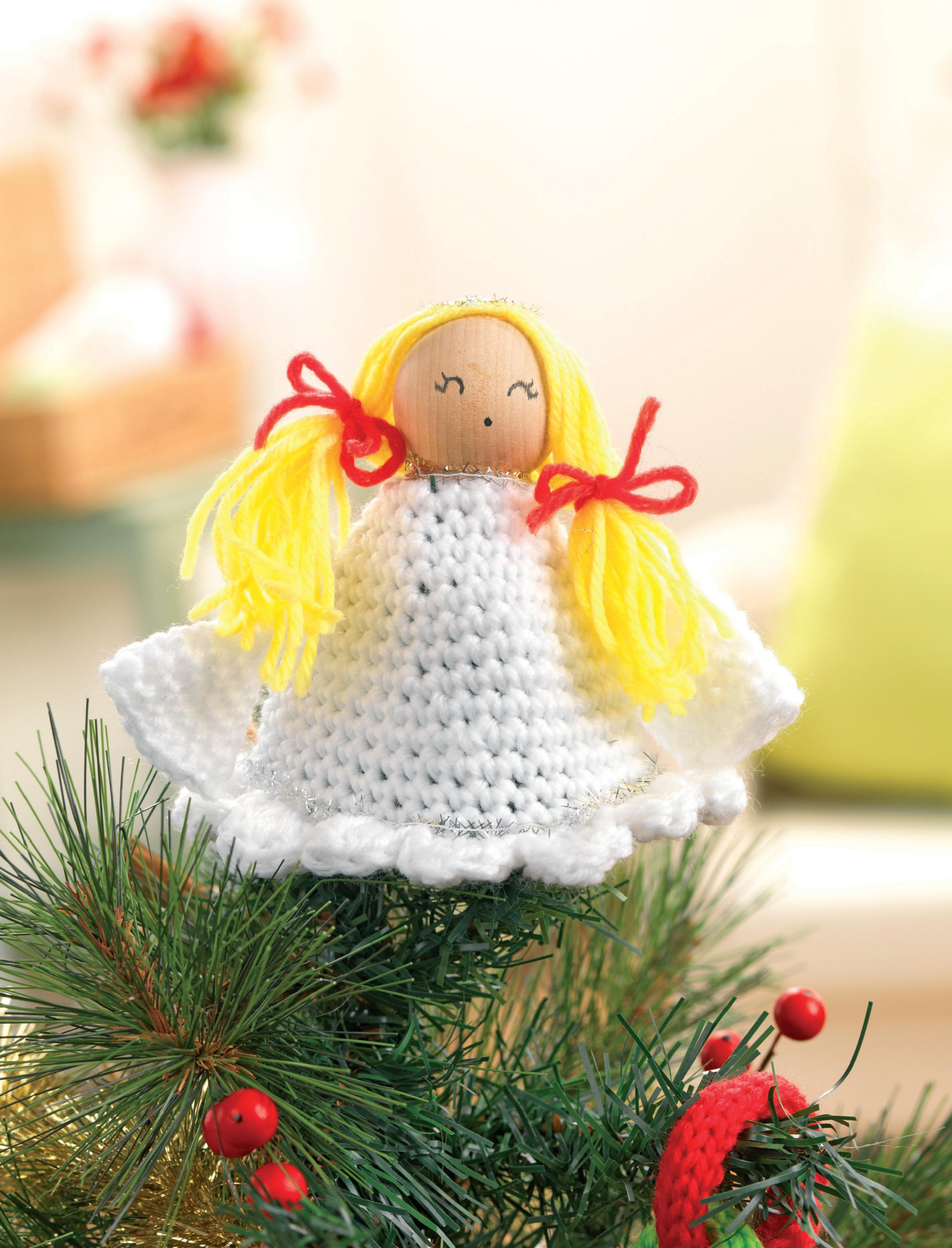 Knitting Pattern For Christmas Tree Angel : Crochet christmas angel Crochet Pattern