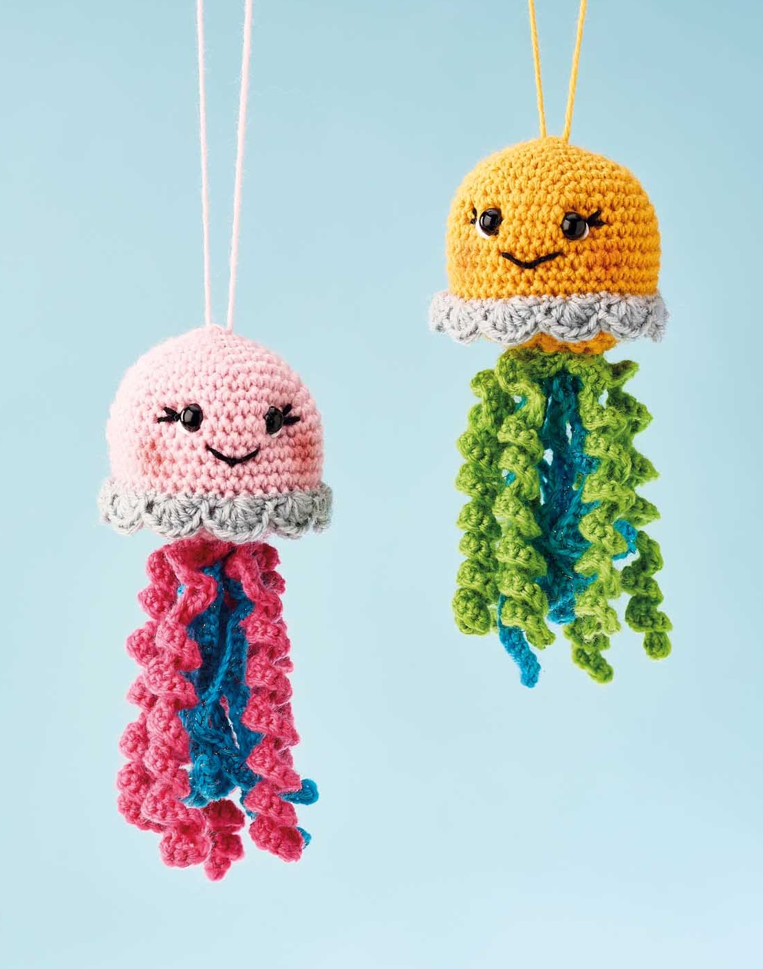 Happy jellyfish amigurumi pattern - Amigurumi Today | 1409x1109