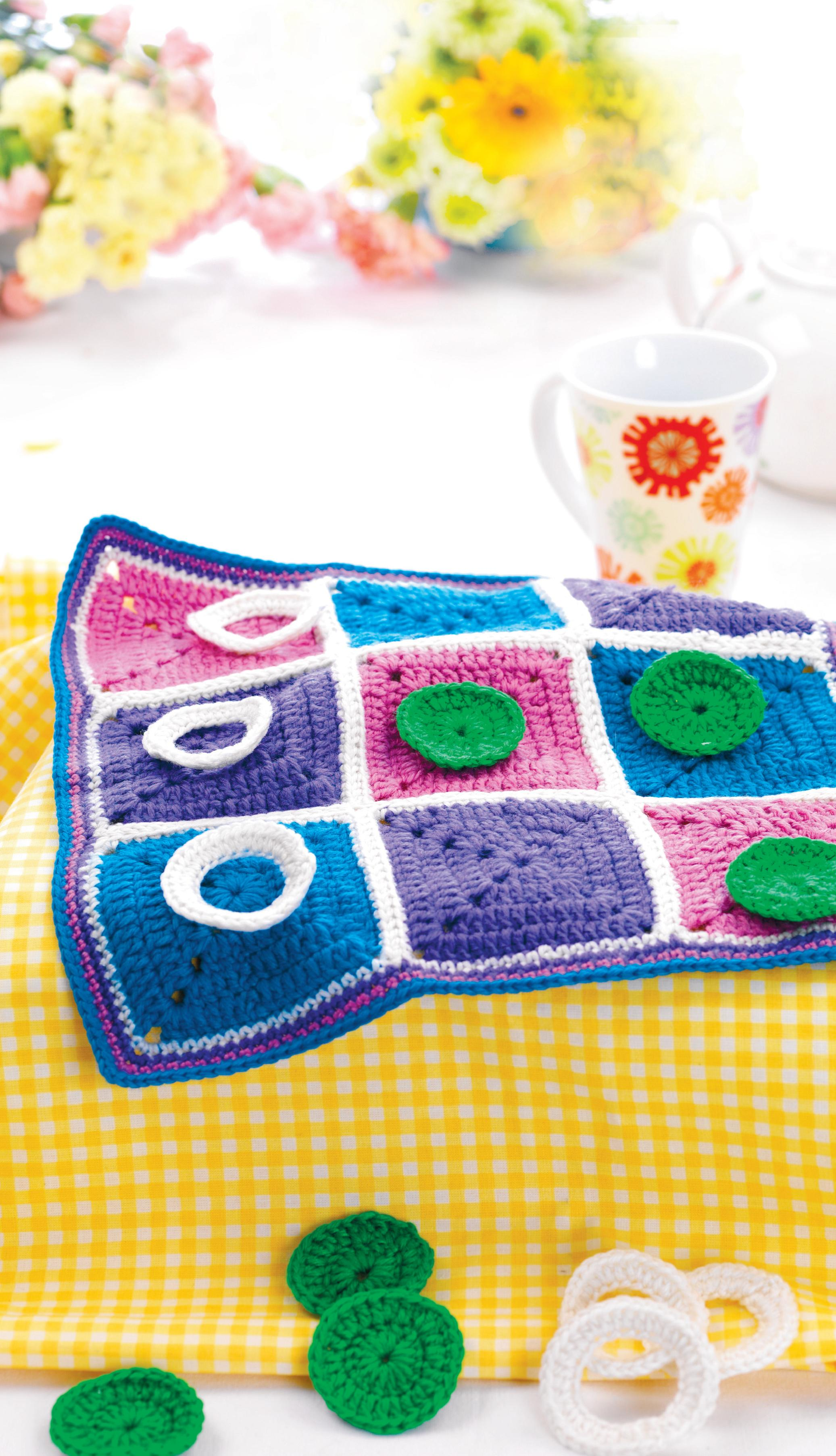 Best Free Crochet Patterns Online : Crochet tic-tac-toe game Crochet Pattern