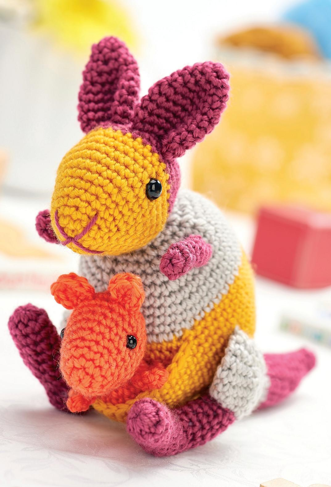 Kangaroo and joey Crochet Pattern