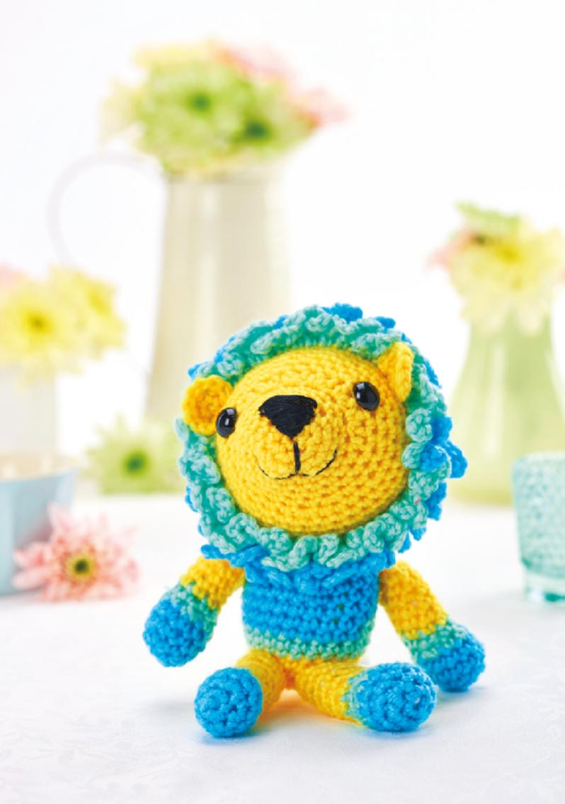Free Online Crochet Patterns For Toys : Lion toy Crochet Pattern