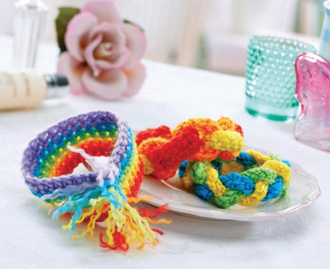 Best Free Crochet Patterns Online : Simple crochet bracelets Crochet Pattern