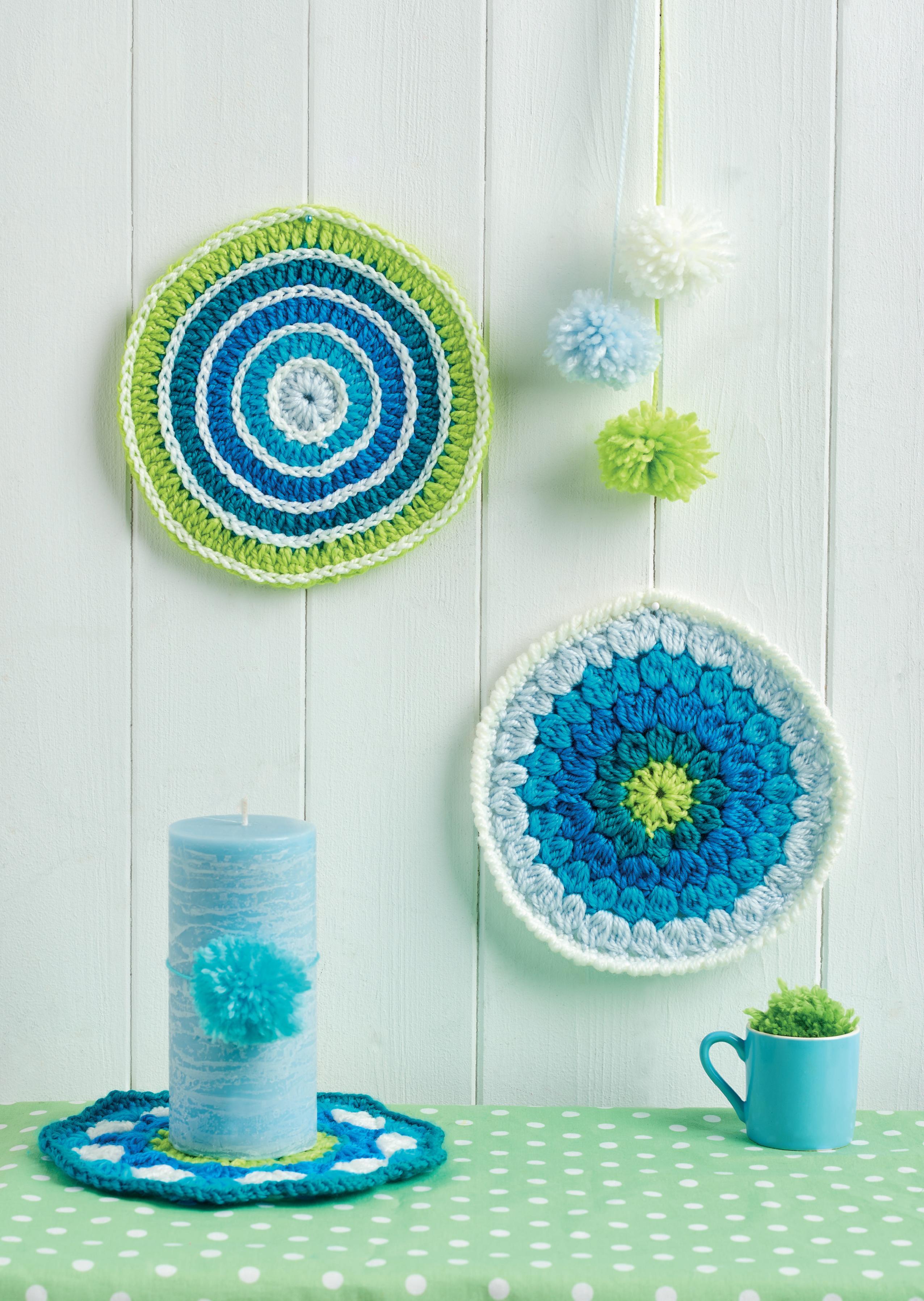 Circle Crochet Mandalas For Coasters Or Wall Art Crochet