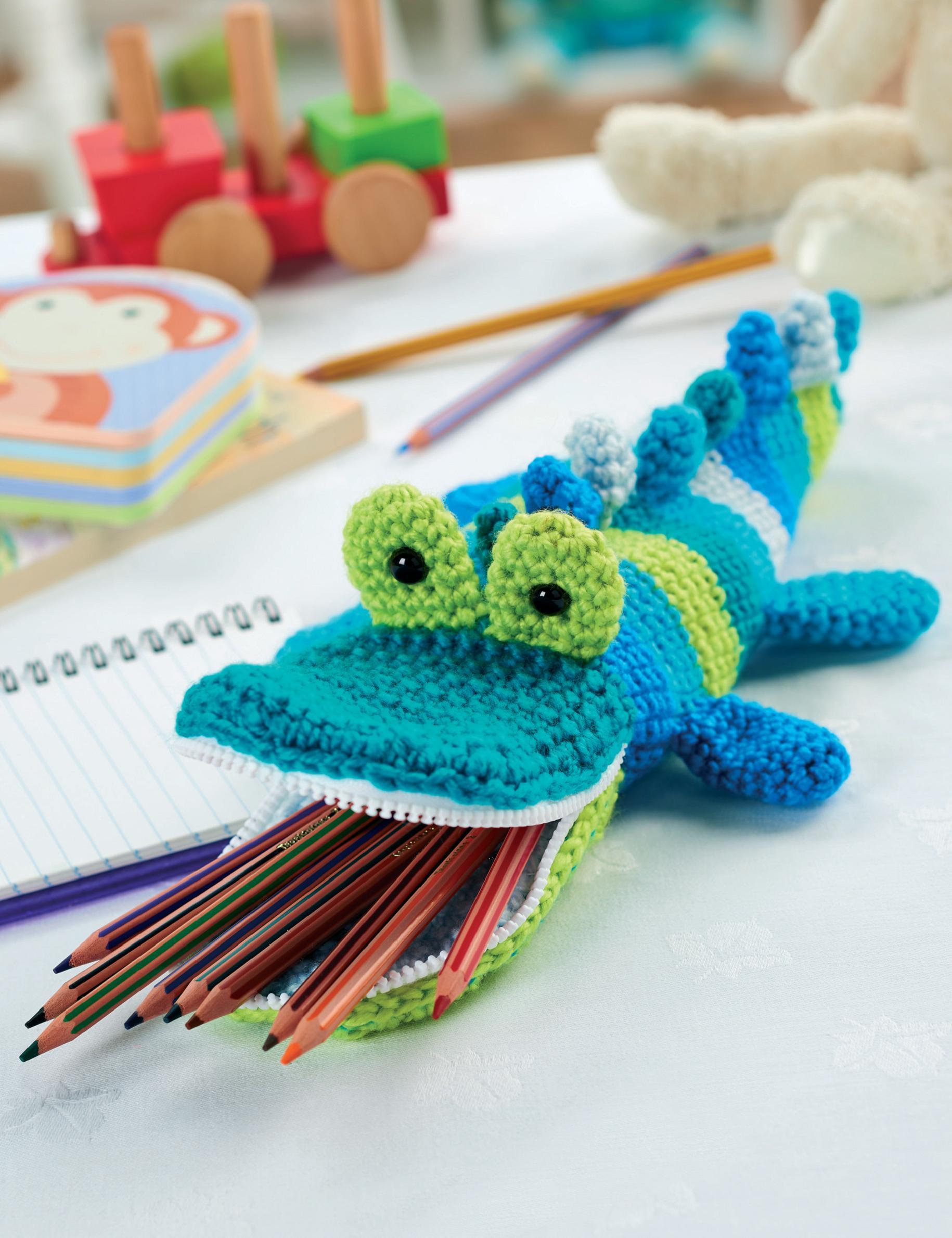 Crochet Crocodile Pencil Case Crochet Pattern