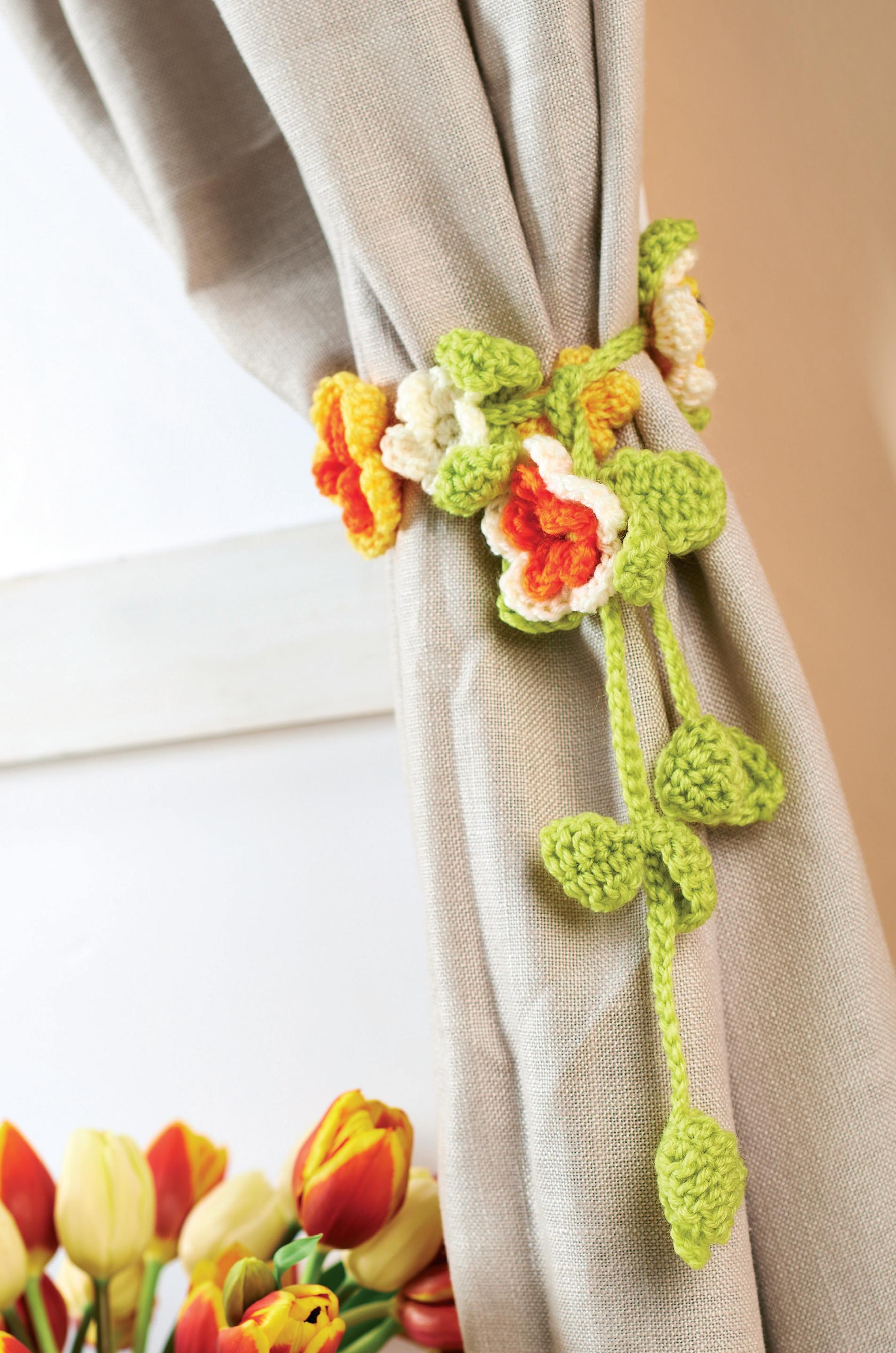Crochet Curtain Tie Backs Crochet Pattern