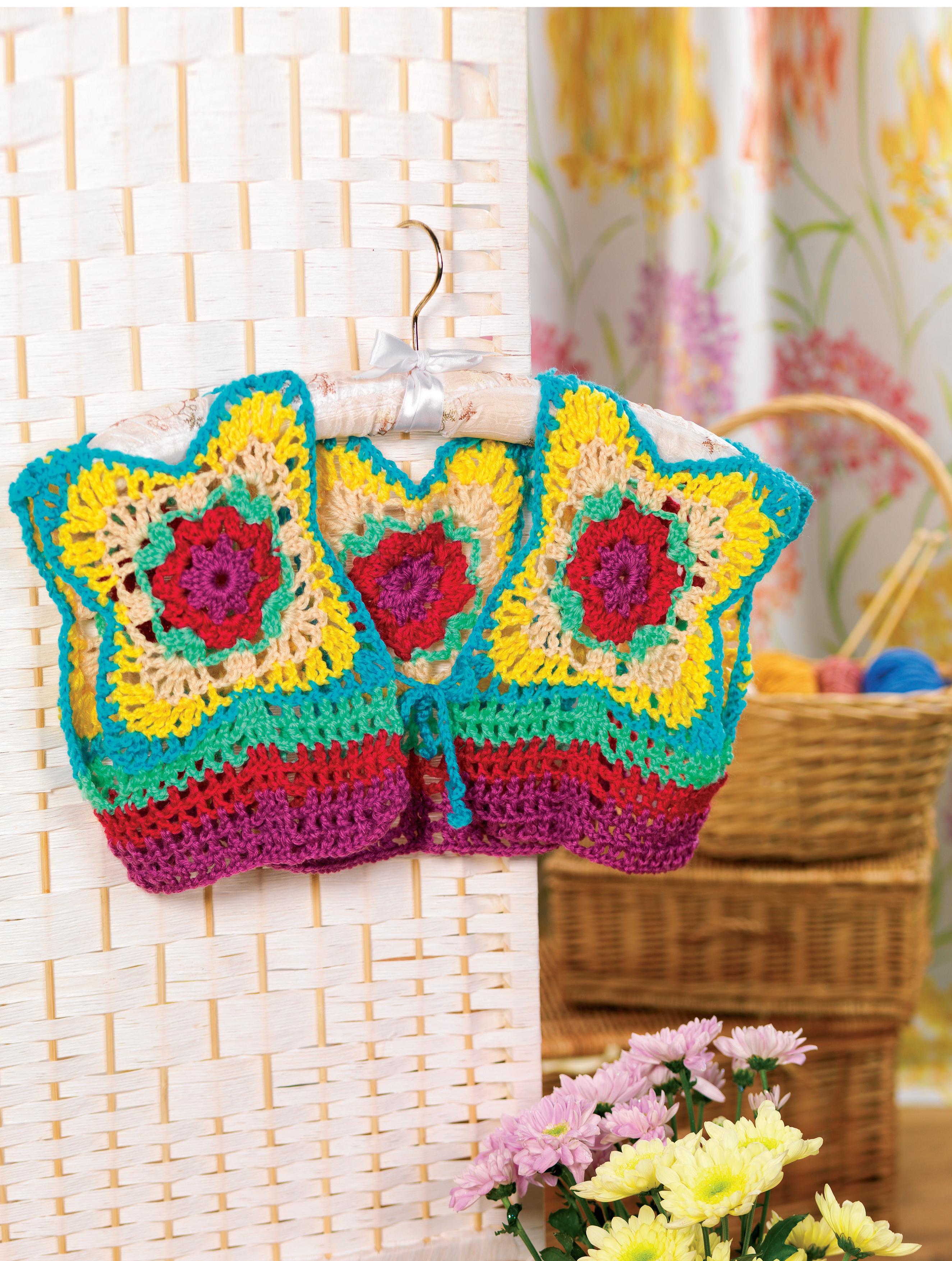 Granny square bolero Crochet Pattern